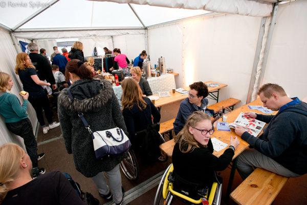 Nederland, Utrecht, 21-10-2017 Wheelchairskills-event 2017 door K-J Projects  Fotografie: Remke Spijkers www.remkespijkers.com