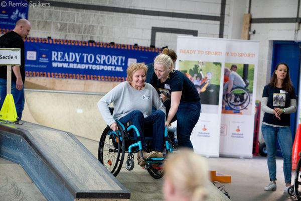 Nederland, Utrecht, 21-10-2017Wheelchairskills-event 2017 door K-J ProjectsFotografie: Remke Spijkers www.remkespijkers.com